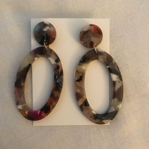 New! ✨ Francesca's multicolored Marbled Earring